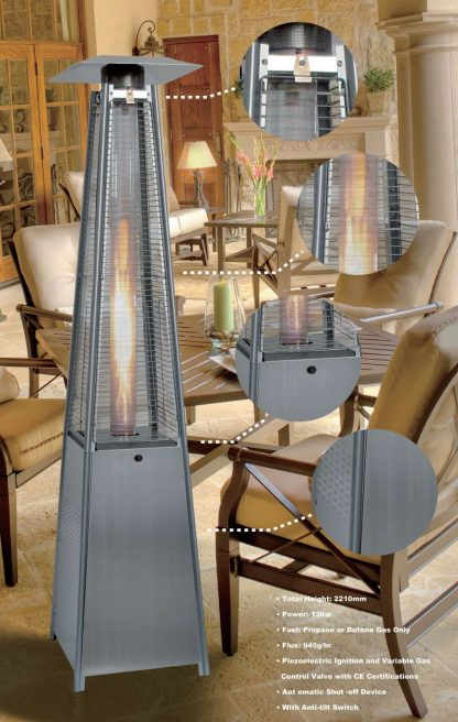 square Pyramid Patio Heater